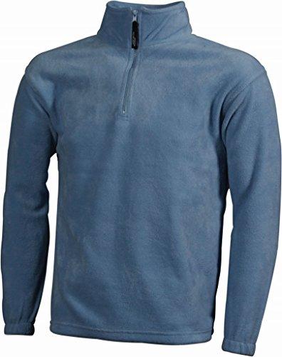 Demi-zip en polaire polaire-homme-noir-taille :  s à xXL-demi-zip en polaire pour femme - Hellblau (Light Blue)