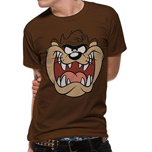 Looney Tunes Official Men's Tasmanian Devil Taz Big Face T-Shirt - Crew Neck