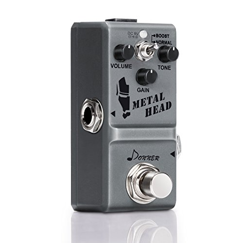 Donner Metal Head Gitarre Effektpedal 9V DC Metal Distortion Pedal