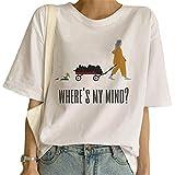 Camiseta Billie Eilish Niña, Billie Eilish Camiseta Mujer Impresión Manga Corta T-Shirt Camiseta Billie Eilish Impresión Billie Eilish Camisa de Verano Regalo Camisetas y Tops (20,S)
