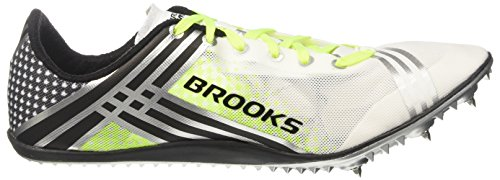 Brooks 3 Elmn8, Scarpe da Corsa Uomo Multicolore (White/Black/Nightlife)