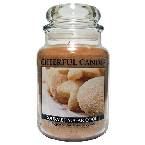 A Cheerful Giver Gourmet Sugar Cookie Duftkerze im Glas 24oz braun