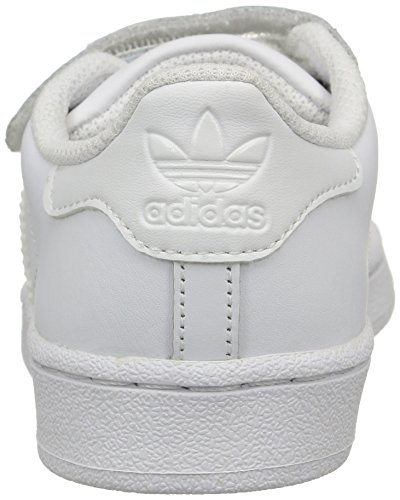adidas Superstar Foundation Cf, Baskets Basses Mixte Enfant, 12.5 UK Blanc (Ftwr White/Ftwr White/Ftwr White)