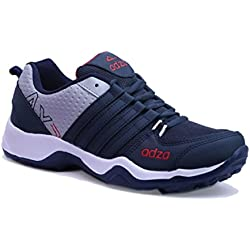 Adza Men Navy Blue And Grey Casual/Running Sports Shoes Eva Sole