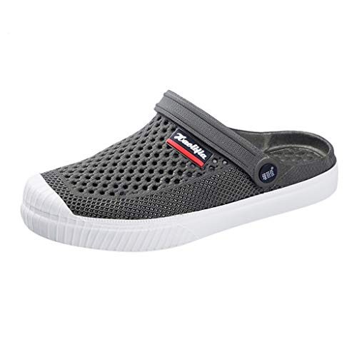 iHAZA Männer Flip Flops Sommer Freizeitschuhe Strand Sandale Mesh Atmungsaktive Schuhe - Leder Mesh Maultiere