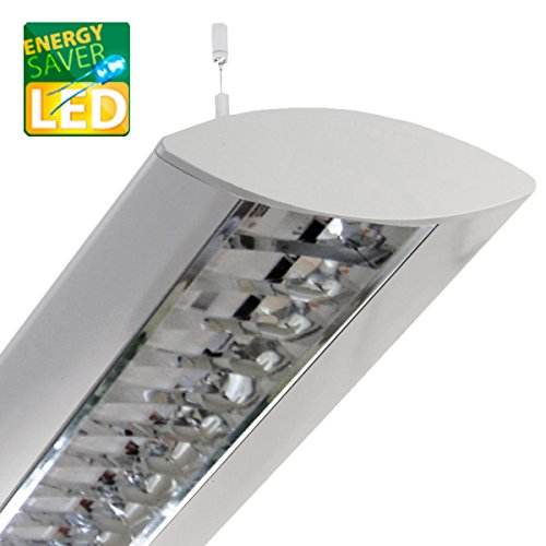 Pendelleuchte, Bürolampen, LED DORO 36W, max 2x26W, neutralweiß (4000K), Deckenleuchte, Hängeleuchte, Büro Designleuchte