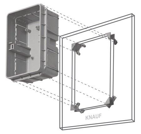 Unterputz Kleinverteiler 12 Module / Sicherungskasten / Verteilerkasten Unterputz IP40 - 2