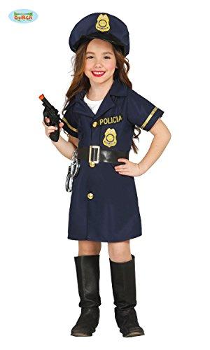 KINDERKOSTÜM - POLIZEI MÄDCHEN - Größe 142-148 cm ( 10-12 Jahre ), Polizistin Police Sträfling Gefangener