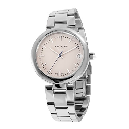 Lars Larsen LW26 Women's Quartz Watch with Mother of Pearl Dial Analogue Display and Silver Stainless Steel Bracelet 126SSSB