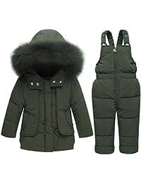Chaqueta de invierno para niños Baby Toddler Girls Boys Winter Snowuit  cálido Sólido de dos piezas Desmontable con… 3c48c3efac805