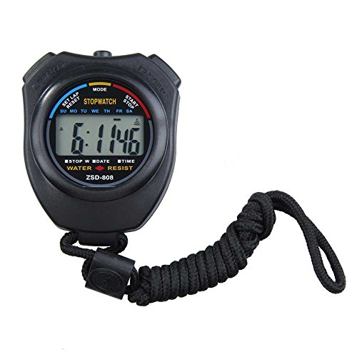 EUTUOPU Digital Stopwatch Counter with Strap Running Timer for Sports Gym