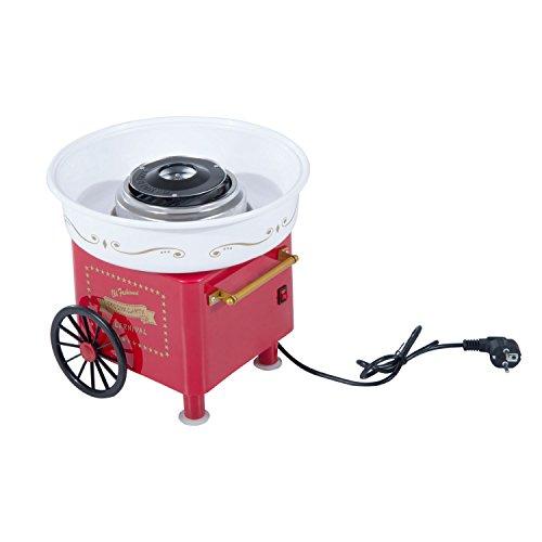 HOMCOM Zuckerwattemaschine Zuckerwattegerät Zuckerwatte Maschine (Modell 2/Rot)