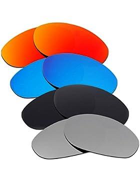 Hkuco Plus Mens Replacement Lenses For Oakley Monster Dog Red/Blue/Black/Titanium Sunglasses
