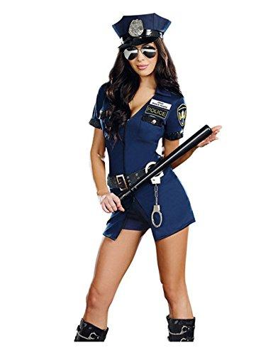 gerie Polizei Polizist Uniform Kostüm schließen Uniform + Hut (Polizei Sexy Kostüme)