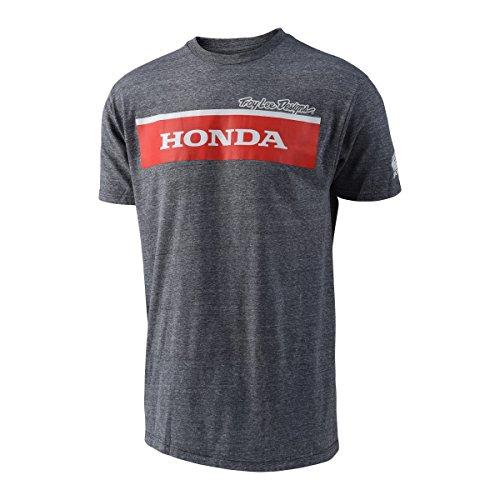 Troy Lee Designs T-Shirt Honda Wing Block Grau Gr. M (Logo Designs Lee Troy)