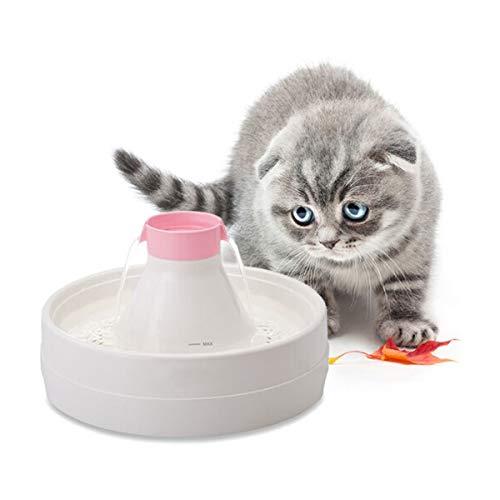 PETCUTE Fuente de Agua para Perros Dispensador de Agua para Mascotas automático Fuente de Agua para Perros y Gatos, 3 litros