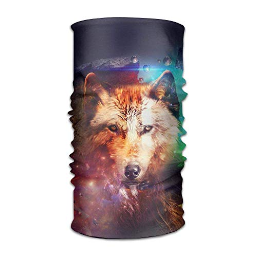 Qinckon Space Galaxy Abstract Wolf Art Headwrap Unisex Kopfbedeckung Stirnband Halstuch Elastic Do Rag Cap - Space Pirate Kostüm