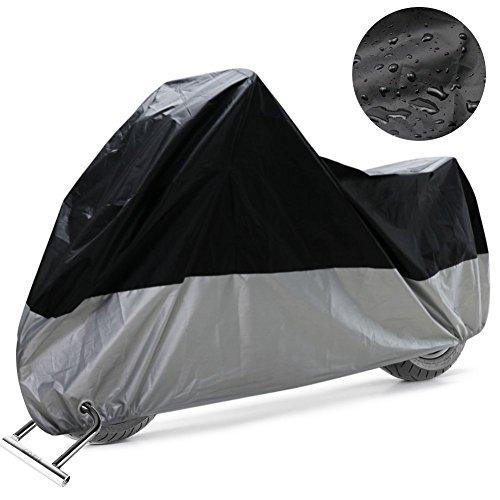 COFIT Winterfest Motorradabdeckung, Motorradplanen Anti Wind Staub UV Regen Feuchtigkeit Schnee Schützt mit Lock Löcher - XXL