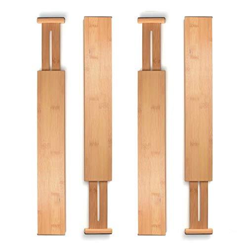 ��Schubladentrenner,aus 100% Bio-Bambus - Am besten für Küche, Kommode, Schlafzimmer, Baby Schublade, Bad, Schreibtisch. (4er-Set) ()