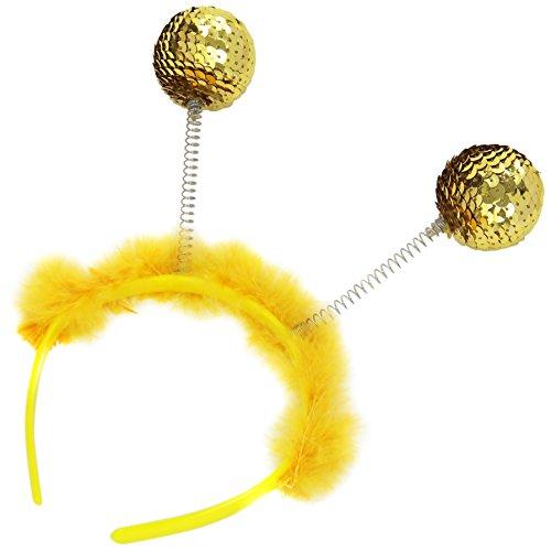 Widmann–Haarreif mit Pailletten Gold und Marabou