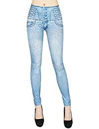 38//40//42//44//46//48 Damen Stretch Jeans Capri Hose Grau mit Strass destroy Gr
