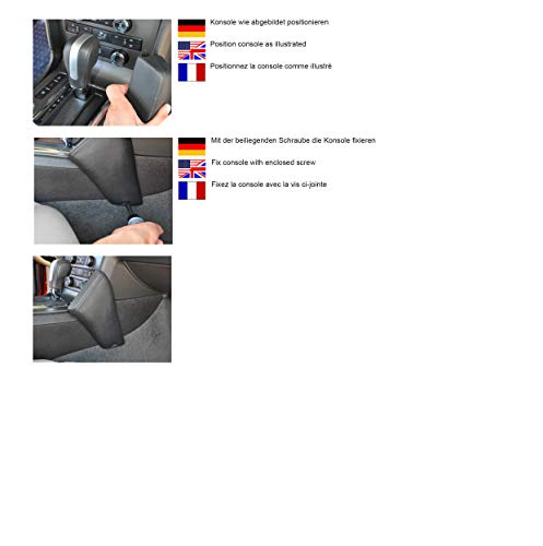KUDA 095915 Halterung Kunstleder schwarz für Ford Mustang V ab 2009 bis 2014 (USA) (Facelift) (Kuda Usa)