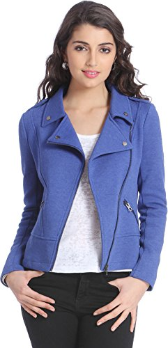 Only Women's Blue Colored Casual Jacket