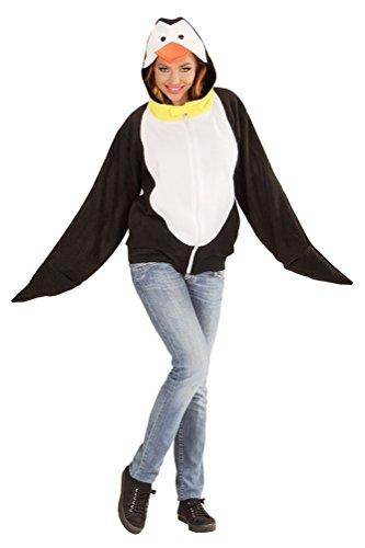 Karneval-Klamotten Pinguïn Kostüm Damen Erwachsene Pinguin Jacke Karneval Tier-Kostüm Damen-Kostüm Einheitsgröße