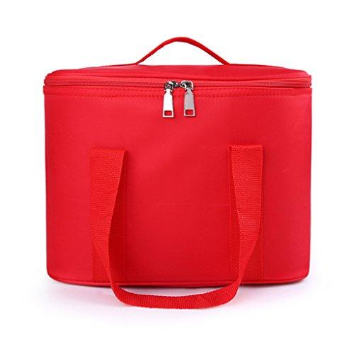 CLOTHES- Scatola di immagazzinaggio di caso cosmetica portatile della borsa di lavaggio della borsa cosmetica portatile ad alta capacità di allievo delle signore ( Colore : Rosso ) Rosso