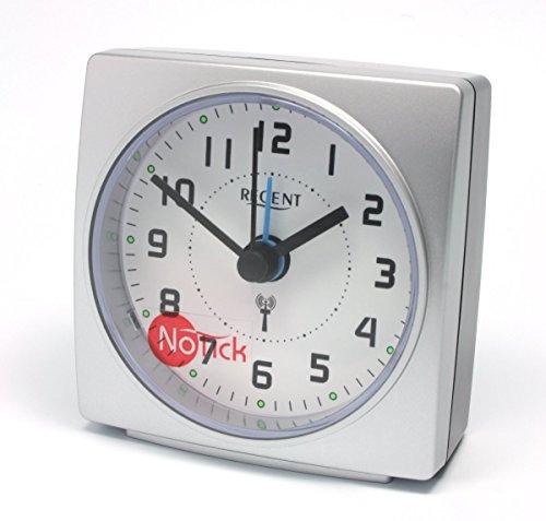 regent-42-700-19-wecker-lautlos-funkwecker-analog-licht-alarm-gerauscharm-weiss-schwarz-silber