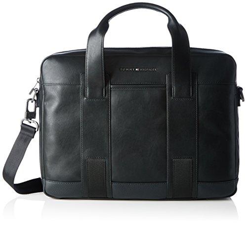 Tommy Hilfiger Novelty Stripe Computer Bag - Borse per PC portatili Uomo, Schwarz (Black), 10x31x41 cm (L x H D)