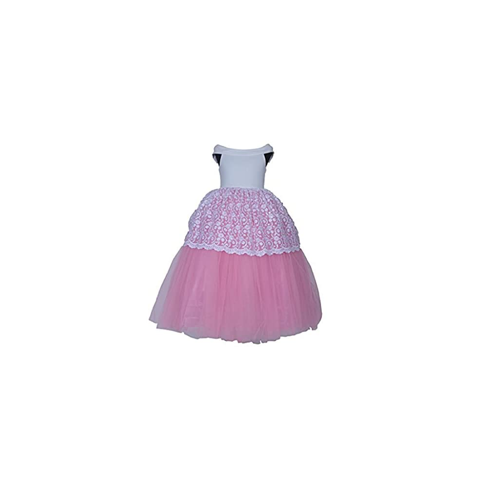 8a0466f2e2b1 SOFYANA Baby - Girl s Princess Scuba Gown Birthday Party Wear Long ...