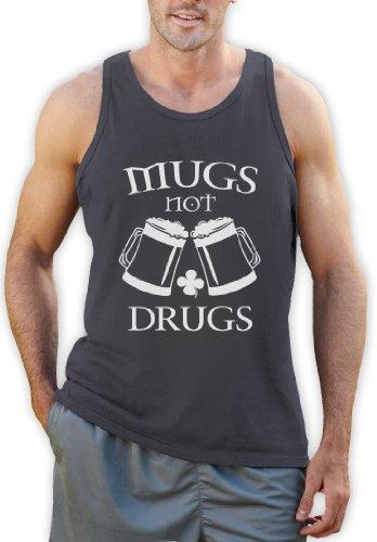 Mugs Not drugs Tank Top Dunkelgrau
