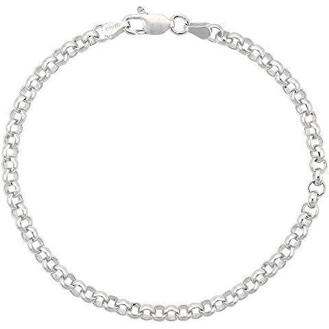 925 argento sterling catena rolò ltext, 4 mm, misure 18-76 cm