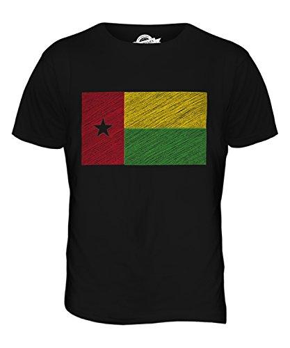CandyMix Guinea-Bissau Kritzelte Flagge Herren T Shirt Schwarz
