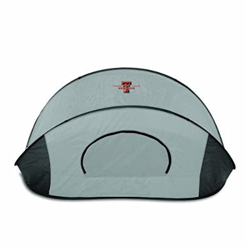 NCAA Texas Tech Red Raiders Manta Portable Pop-Up Sun/Wind Shelter, Gray by Picnic Time