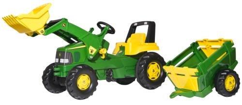 Trettraktor John Deere rolly toys 811496 rollyJunior John Deere und Lader und Trailer