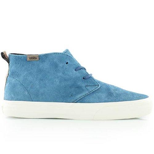 Vans  U CHUKKA DECON (AGED LEATHER)M, Damen Sneaker Blau blau, Blau - Mallard Blue - Größe: 41 (Billig Vans Schuhe)
