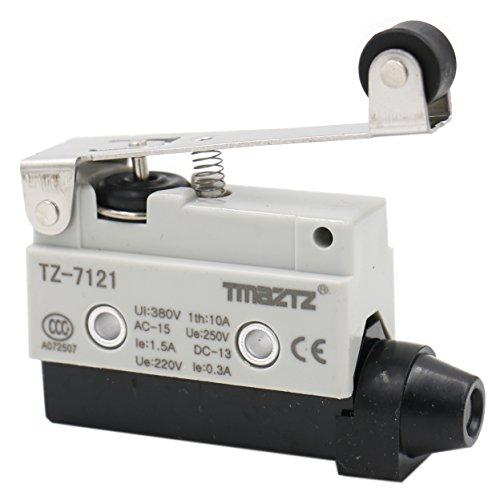 Heschen – Horizontaler Limit-Schalter, langer Rollenhebelbetätiger-Aktor, AC 380V 10A, Einpolig, TZ-7121