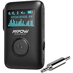 Mpow Récepteur Bluetooth sans Fil , récepteur Audio Bluetooth 5.0 avec écran OLED, Adaptateur de Musique en Streaming avec Annulation du Bruit DSP CVC8.0,Surround 3D pour chaîne stéréo pour Voiture
