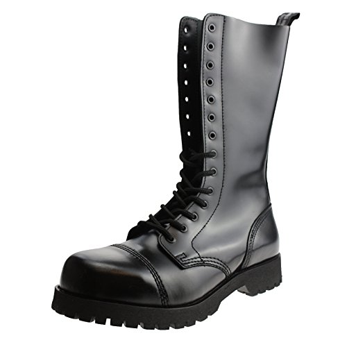 Boots & Braces - 14 Loch Stiefel Rangers Schwarz Größe 44 (UK10)