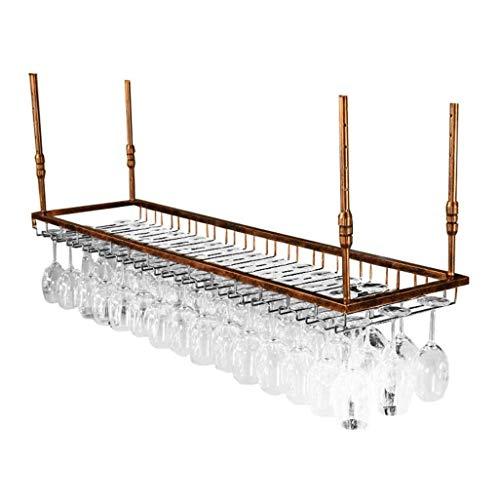 Bar Bar Highware Rack Support à verre de vin Zhuo Yixin Porte-gobelet à vin suspendu Créatif Porte-verre à vin à suspendre (Color : Bronze, Size : 90x35cm)