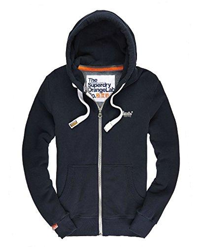 Superdry Orange Label Ziphood Sweat-Shirt À Capuche, Bleu (Eclipse Navy 98t), X-Small Homm
