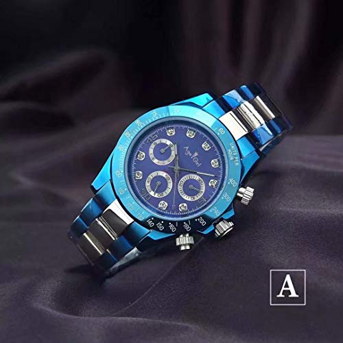 ZCCZJBXS Luxury Men Automatic Mechanical Watches Blue Platinum Stainless Steel Sapphire Glass Daytona Sports Limited Watch AAA+ 3 -