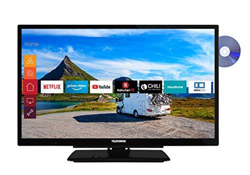 Telefunken XH24G501VD 61 cm (24 Zoll) Fernseher (HD-ready, Triple Tuner, Smart TV, Prime Video, DVD-Player integriert, 12 Volt)