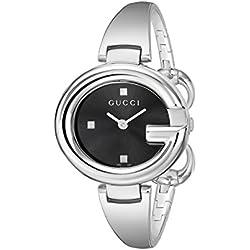 Gucci YA134301 - Reloj de cuarzo para mujer, con correa de acero inoxidable, color plateado