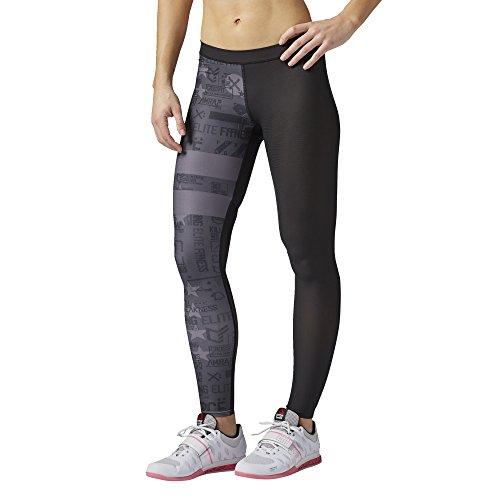Reebok donne pantaloni della tuta CF PWR6 collant a compressione, nero, s, AI9484