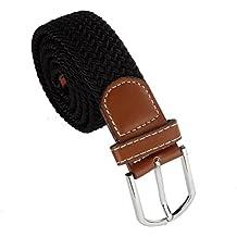 zolimx Cinturones de hombre, Cinturón de hebilla Metal estiramiento elástico de trenzado