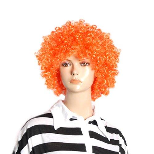 SODIAL(R) Perruques afros bouclees de clown de cirque Oranges