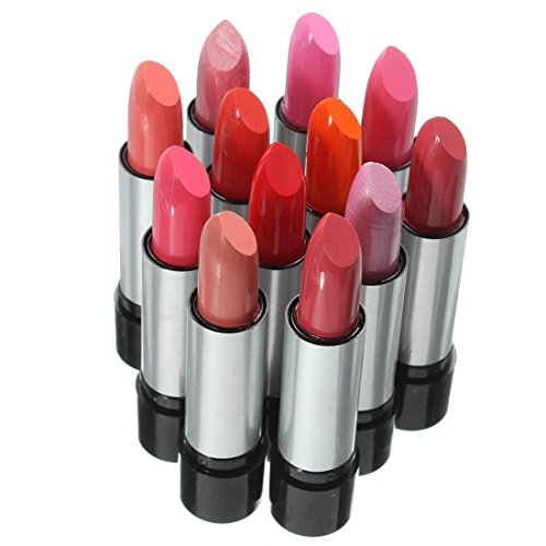 TOOGOO(R) 12 Colors Lipsticks Glossy Sets Fashion Women Beauty Makeup